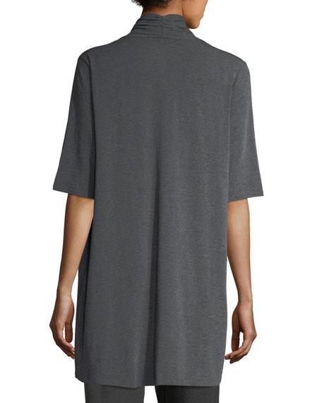 Long Lightweight Stretch-Jersey Cardigan