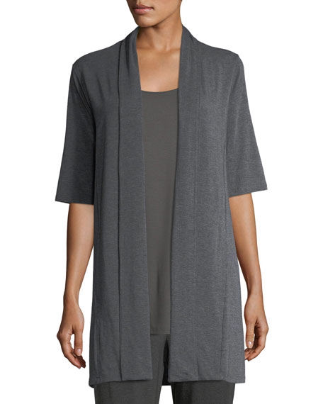 Eileen Fisher Bateau-Neck Lightweight Jersey Tank Top and