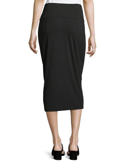 Fold-Over Knee-Length Pencil Skirt, Petite