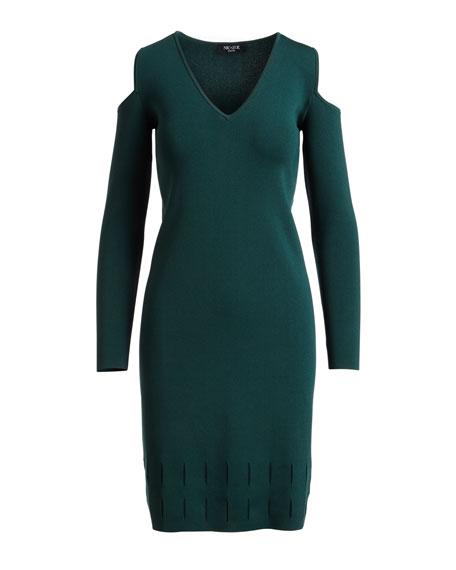 Peeking Out Cold-Shoulder Knit Dress