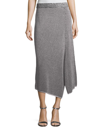 Frosted Fall Asymmetric Skirt  Petite