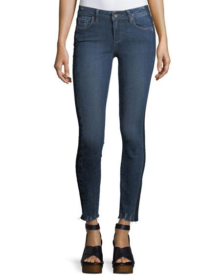 PAIGE Verdugo Ultra-Skinny Ankles Jeans w/ Side Stripe