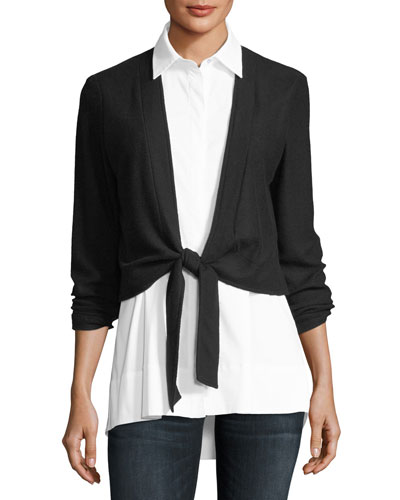 Bella Shirting & Cardigan Combo Top