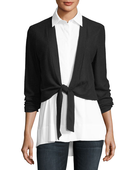 Finley Bella Shirting & Cardigan Combo Top