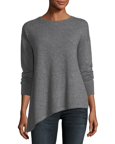 Neiman Marcus Cashmere Collection Metallic Cashmere-Blend
