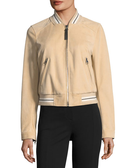 Derek Lam 10 Crosby Leather Suede Bomber Jacket