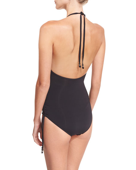 Havana Deep V Maillot One-Piece Swimsuit