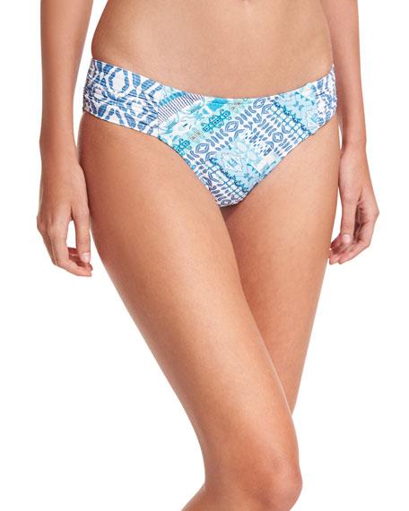 Blue Bazaar Ruched-Side Retro Swim Bikini Bottom