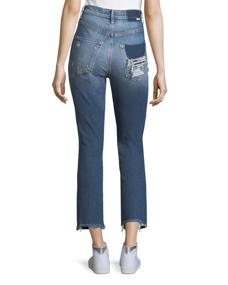 Dazzler Destroyed High-Waist Skinny Jeans