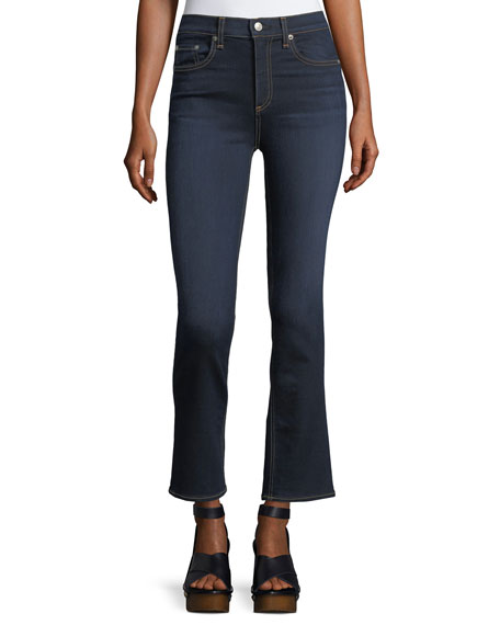 rag & bone/JEAN Hana High-Rise Cropped Boot-Cut Denim Jeans