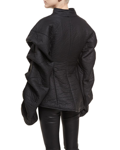 Octopus Tendrils Textured Tiered-Sleeve Jacket