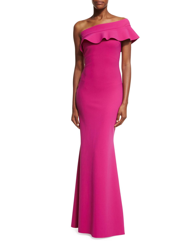 e9a0c4a79cd54 Chiara Boni La Petite Robe Fia Ruffled One-Shoulder Mermaid Gown ...