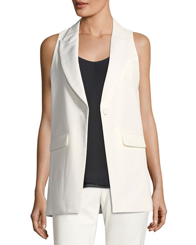 Knight Peak-Lapel Crepe Vest