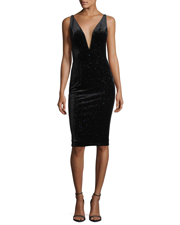Black Velvet Dress | Neiman Marcus