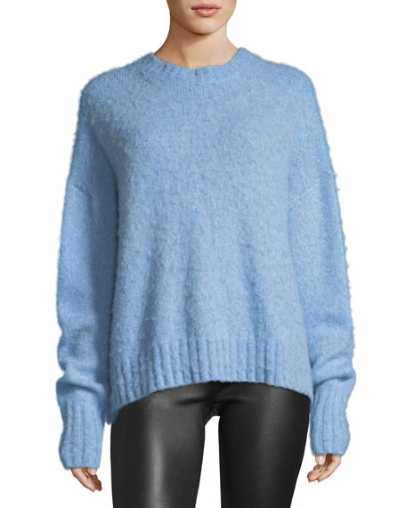Helmut Lang Crewneck Brushed Wool Pullover Sweater and
