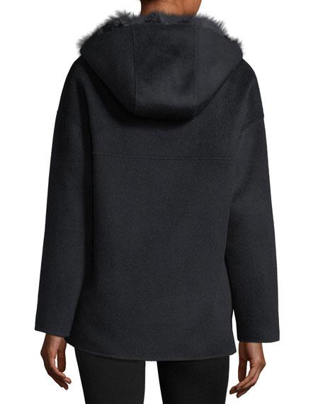 Reversible Wool-Blend & Fur Jacket
