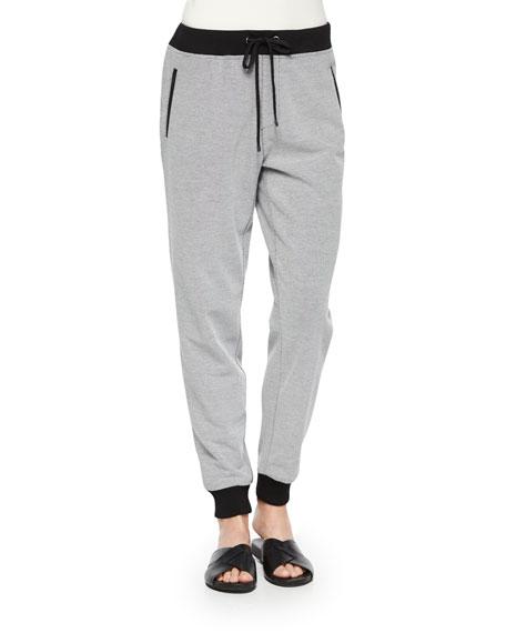Two-Tone Jog Pants, Petite
