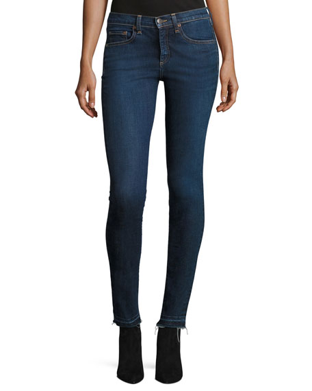 Veronica Beard Kate Raw-Hem Skinny Jeans and Matching