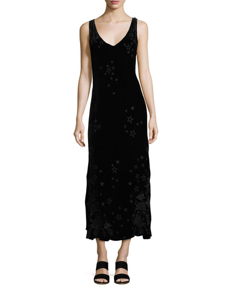 Johnny Was Roberta Velvet Maxi Dress, Petite