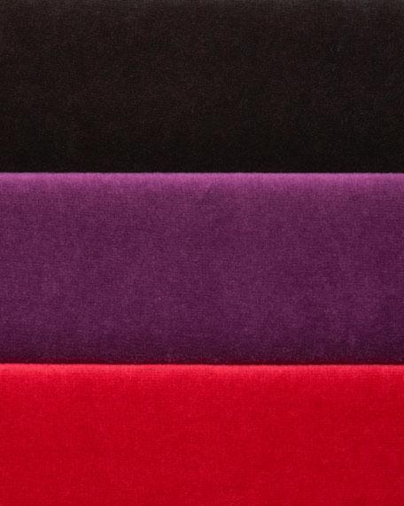 Velour Long-Sleeve Turtleneck Tunic, Petite