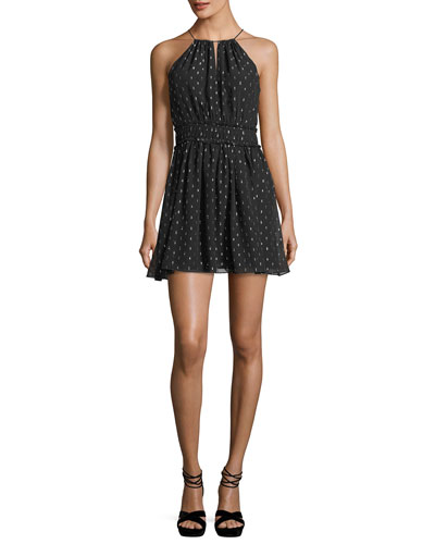 Althia B Sleeveless Chiffon Halter Dress