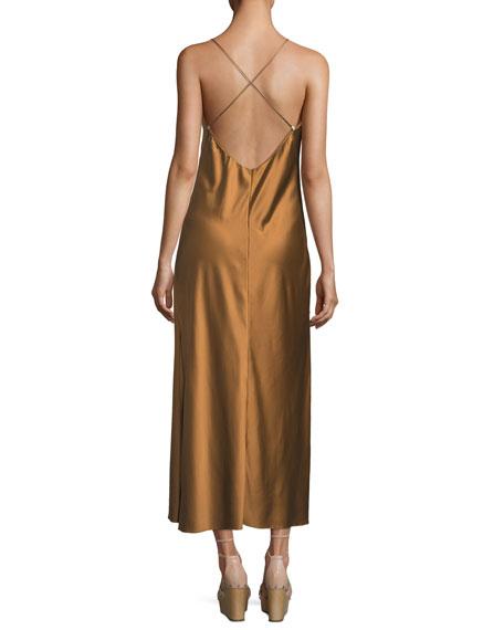 Kate V-Neck Satin Cocktail Slip Dress