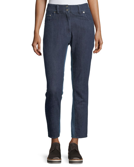 Public School Ray High-Rise Skinny-Leg Denim Pants and