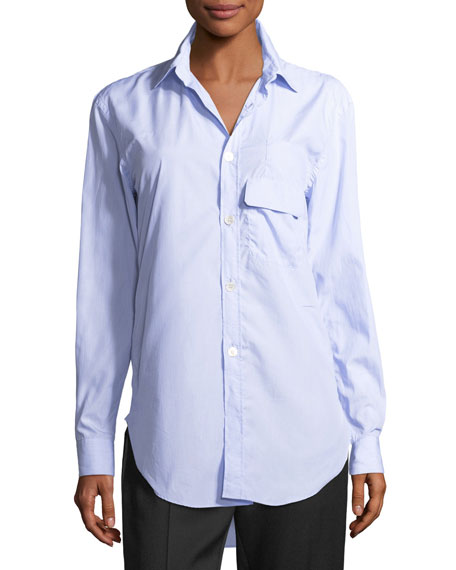 Harrier Striped Cotton Button-Front Shirt