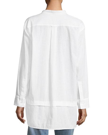 Magpie Linen/Cotton Pintucked Shirt