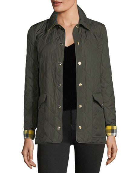 Burberry Westbridge Quilted Jacket, Military Green