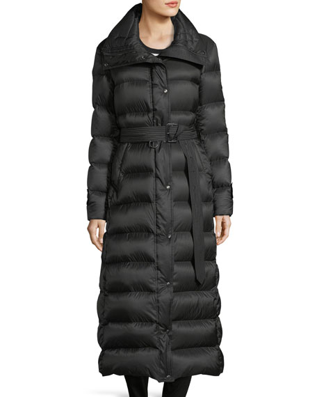 Burberry Kanefield Extra Long Slim Puffer Coat