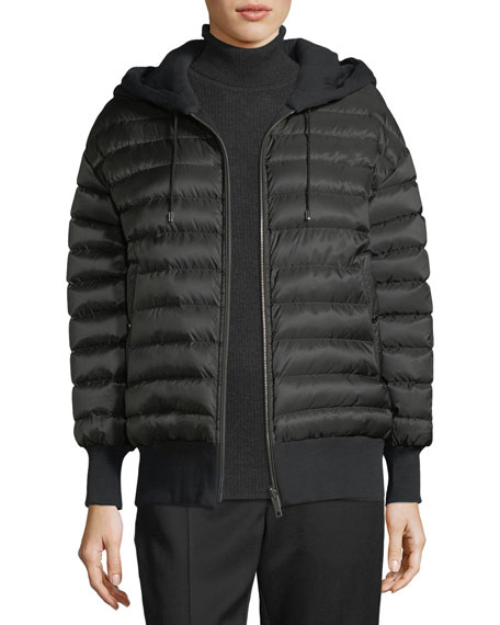 Burberry Langleigh Reversible Down Bomber Jacket