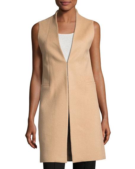 Alice + Olivia Flynn Seamed Wool-Blend Vest