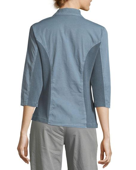 3/4-Sleeve Three-Button Jacket