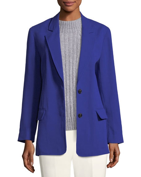 3.1 Phillip Lim Notched-Collar Two-Button Wool-Blend Blazer