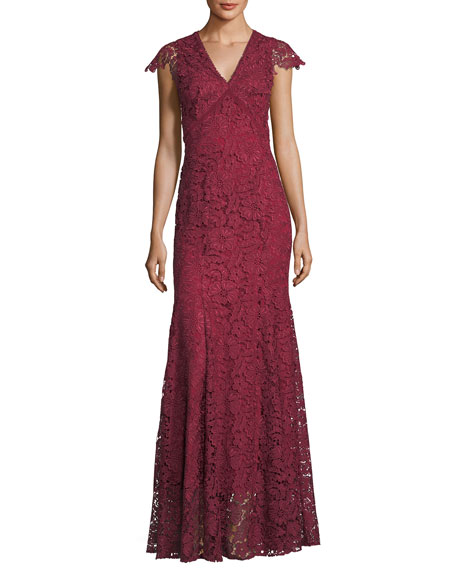 Howden V-Neck Lace Evening Gown