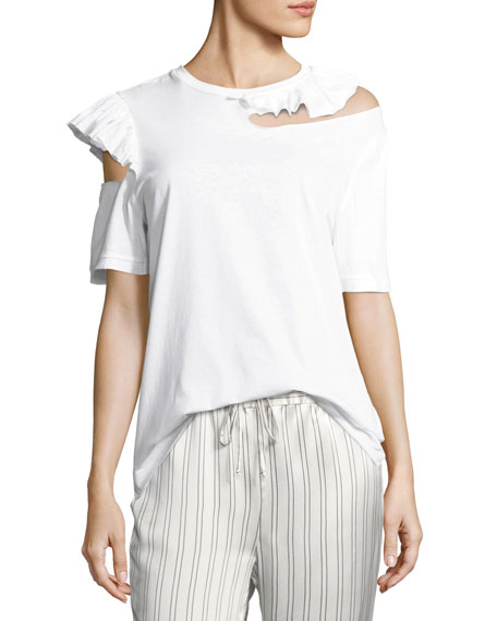 Maggie Marilyn Endless Possibilities Slit Ruffled Shirt and