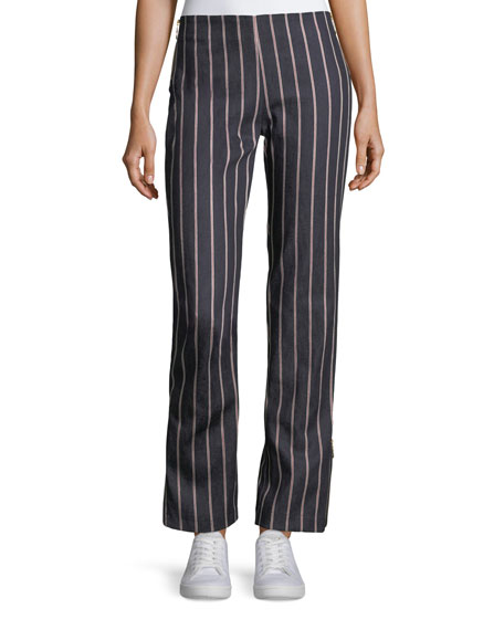 Maggie Marilyn Loyal Companion Slim Straight-Leg Striped Denim