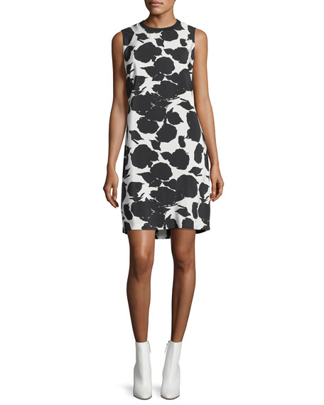 Derek Lam 10 Crosby Sleeveless Printed Shift Dress