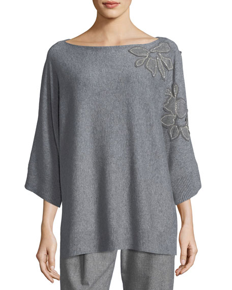 Lafayette 148 New York Vanise Luxe Cashmere Sweater