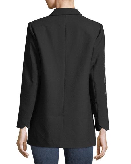 Viva Bis Two-Button Embellished Blazer