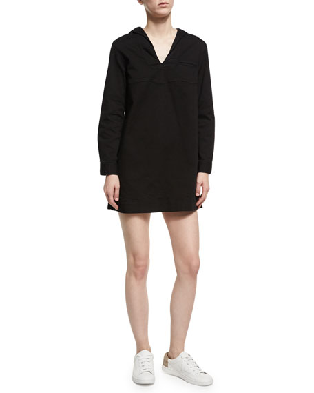 Alexa Chung Sailor Split-Neck Long-Sleeves Shift Dress