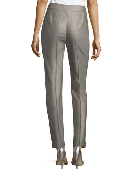 Stretch Birdseye Skinny Ankle Pants