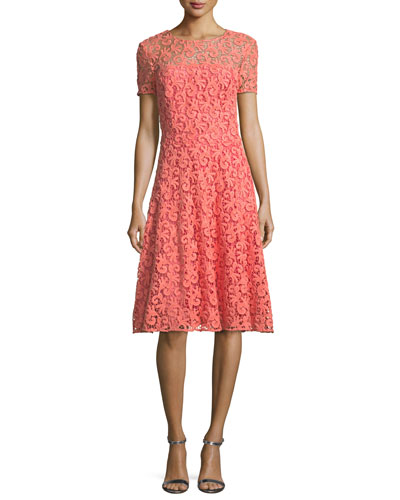 Paisley Guipure Lace Dress