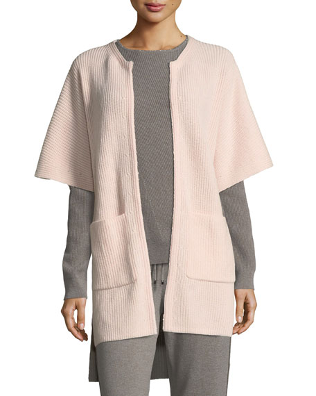 St. John Collection Cashmere Knit Cardigan w/ Patch