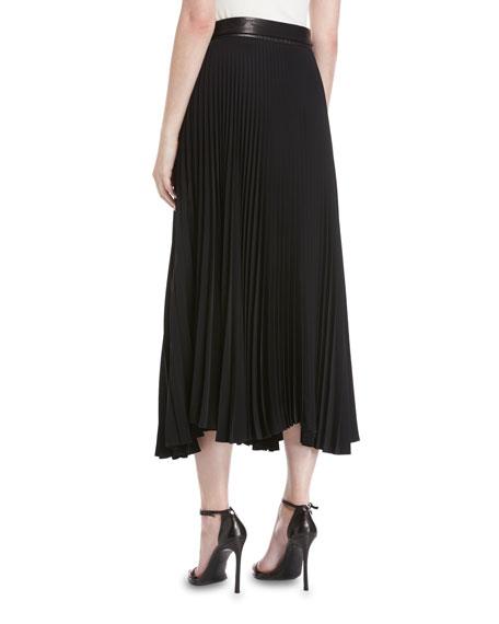 Anika Pleated A-Line Midi Skirt