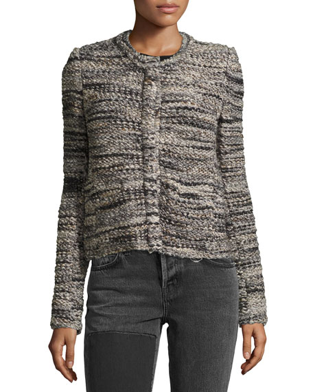 Carene Long-Sleeve Boucle Jacket