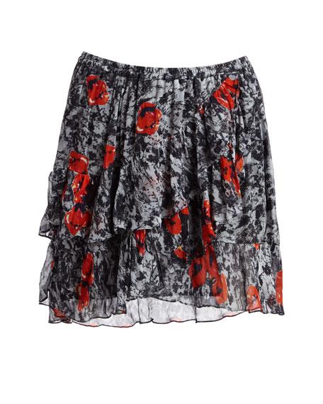 Vanilla Printed A-line Skirt