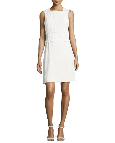 Derek Lam 10 Crosby Sleeveless High-Neck Sheath Dress