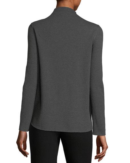 Double-Snap Blazer Jacket